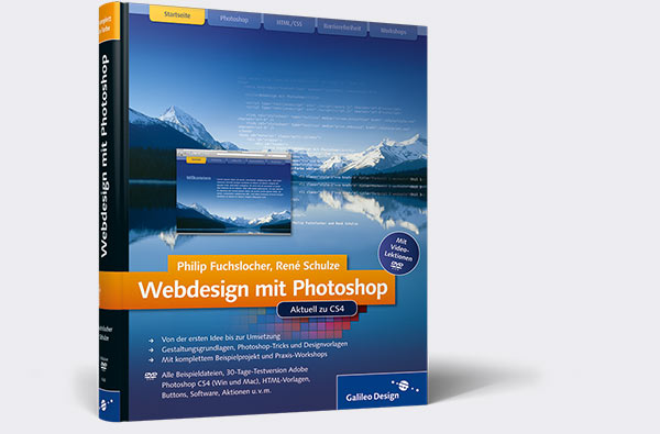 Cover des Fachbuchs Webdesign mit Photoshop